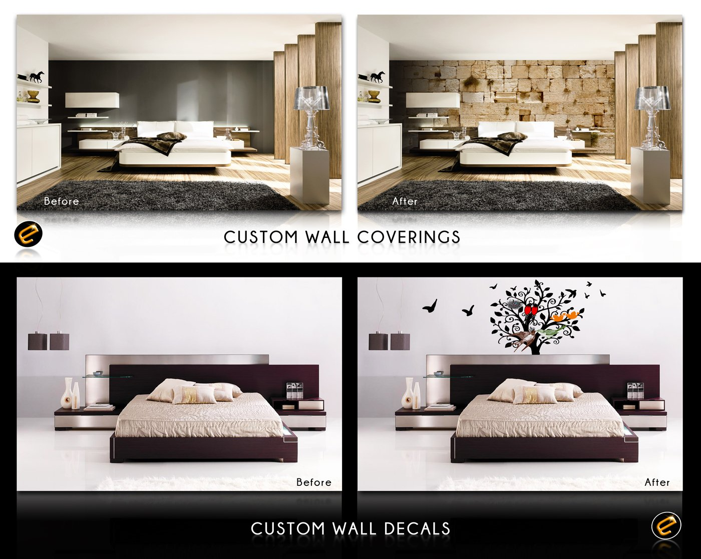 Easy Signs Introduces A Temporary Peel Stick Adhesives And Non Adhesive Permanent Wallpapers Using The Latest Wallpaper Printing Technology