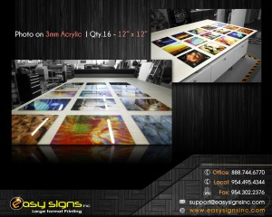 photo print on plexiglass