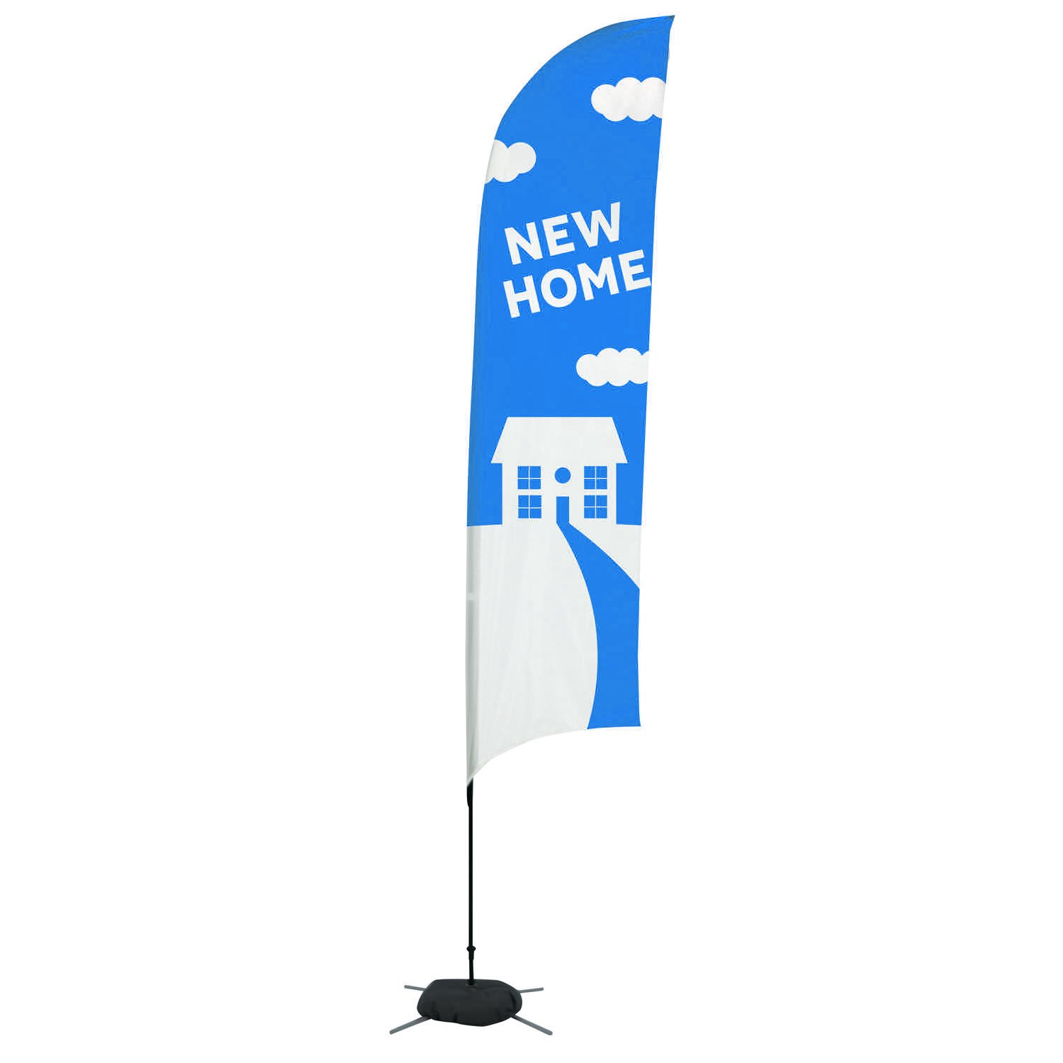 17 Streamline Razor Sail Sign Flag Kit Single Sided With